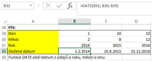 HR Excel DATE