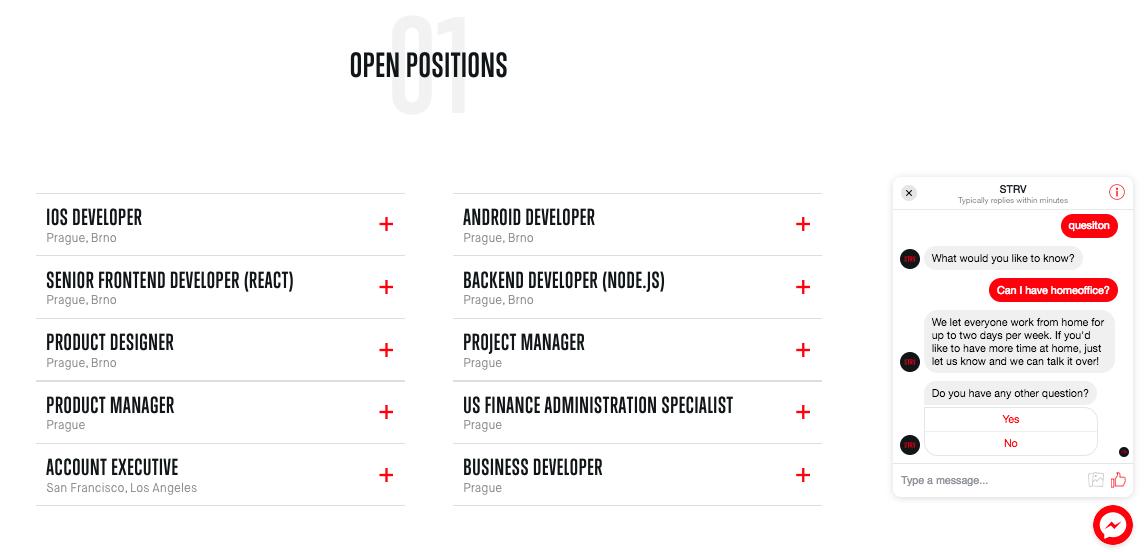 Career site print screen